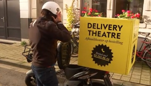 Delivery Theatre op het VRT journaal